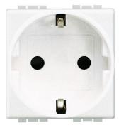 BT LL Белый Розетка силовая 2К+З с автоматическими клемами