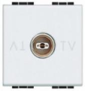 BT LL Белый TV розетка оконеч. без обратной связи, 2 модуля